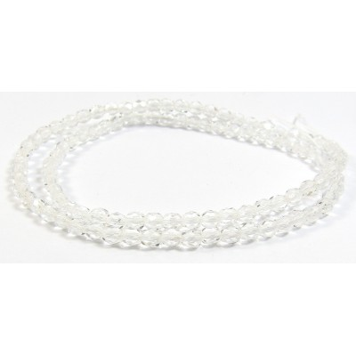 100 Firepolish Beads 4mm Clear