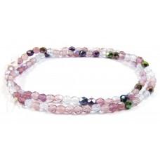 Firepolish Glass Beads 4mm Amethyst/ Purple Mix