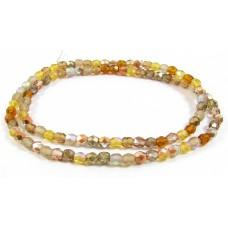 Firepolish Glass Beads 4mm Caramel Mix
