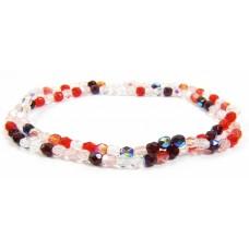 Firepolish Glass Beads 4mm Berry Mix