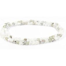 Firepolish Glass Beads 4mm Snow Mix