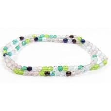 Firepolish Glass Beads 4mm Spring Garden Mix