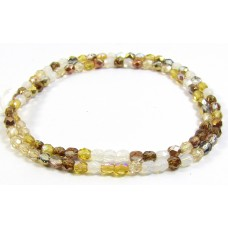 Firepolish Glass Beads 4mm Butterscotch Mix