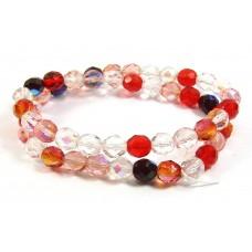 Strand Firepolish Glass Beads 8mm Berry Mix