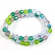 Strand Firepolish Glass Beads 6mm Spring Garden Mix