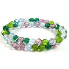 Strand Firepolish Glass Beads 8mm Spring Garden Mix