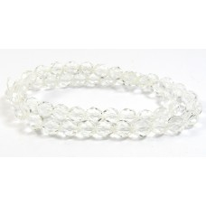 Strand Firepolish Beads 8mm Clear