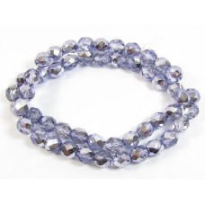 1 Strand Firepolish Beads 8mm Metallic Lavender.