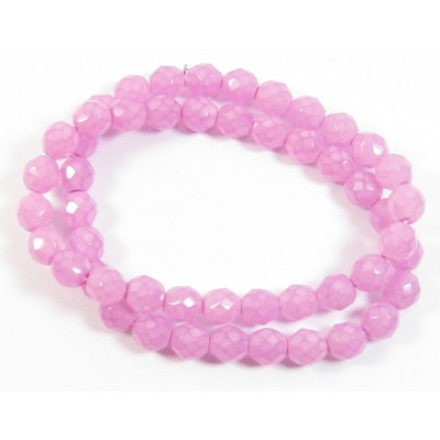 1 Strand Firepolish 8mm Faceted Violet Ice Beads