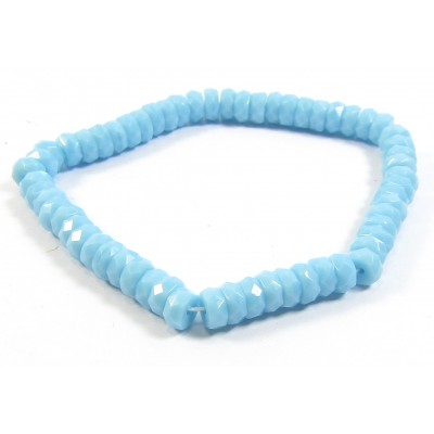 1 Strand 3x6mm Turquoise Czech Glass Faceted Rondelles