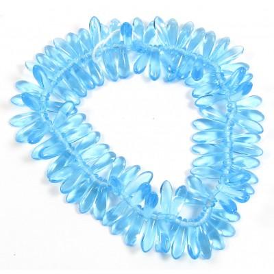 100 Blue Glass CG Dagger Beads