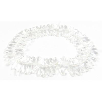100 Czech Glass Clear Dagger Beads