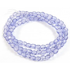 1 Strand Tanzanite 4mm Czech Glass Beads