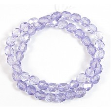 1 Strand Tanzanite 6mm Czech Glass Beads