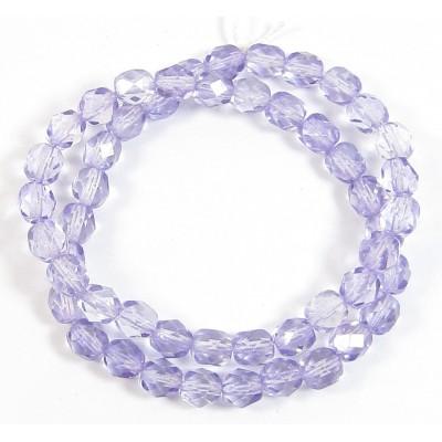 1 Strand Tanzanite 6mm Czech Glass Beads