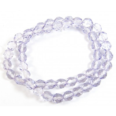 1 Strand Tanzanite 8mm Czech Glass Beads