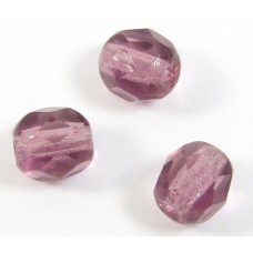 50 6mm Amethyst Round Firepolish