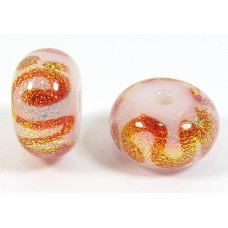 1 Peach Fizz Dichroic 14mm Bead