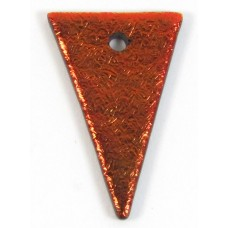 1 Rust Red Dichroic Glass Triangle Charm Pendant