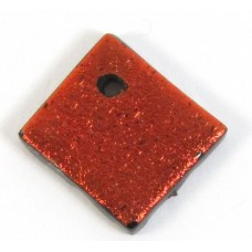 Rust Red Dichroic Diamond Charm Pendant
