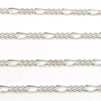 1 cm Sterling Silver Figaro Chain