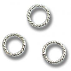 10 Sterling Silver Twisted Soldered Closed 7mm Rings