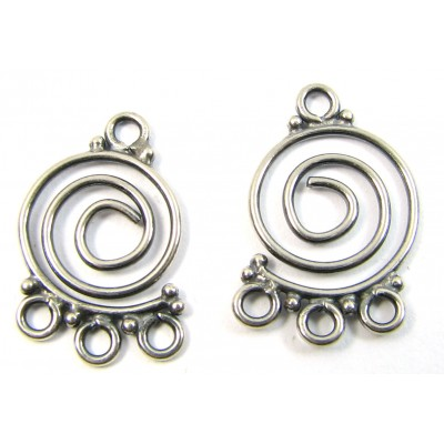 1 Pair Swirl Sterling Silver Chandelier Fittings