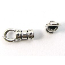 2 Medium Sterling Silver End Crimps with Ring (2mm)