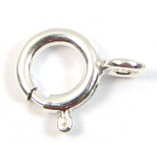 1 Sterling Silver Bolt Ring Clasp 6mm