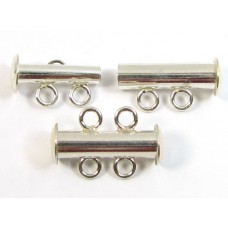 1 Sterling Silver 2-Row Spacer Clasp