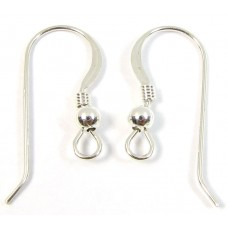 1 pair Sterling Silver Earwires Earring Fittings -22mm