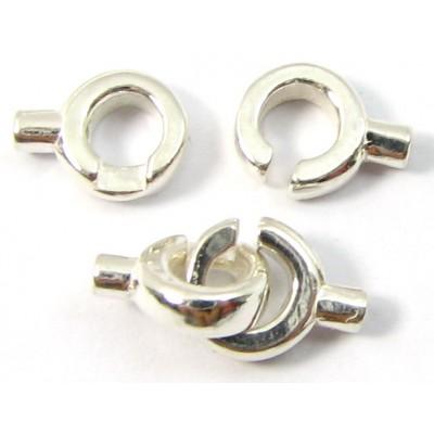 1 Sterling Silver Crimped Loop in Loop Clasp