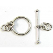 1 Sterling Silver Classic Ring and T-Bar Toggle Clasp