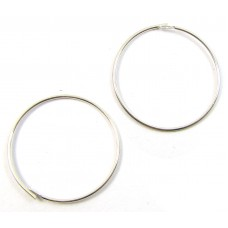 1 Pair Sterling Silver Hoop Earrings