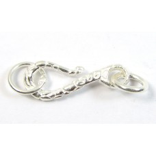 1 Sterling Silver Patterned Hook Clasp
