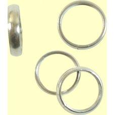 1 Sterling Silver 12mm Ring