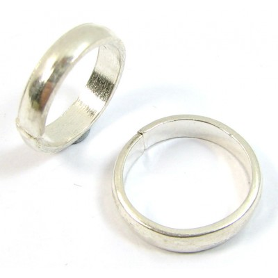 1 Sterling Silver 12mm Ring
