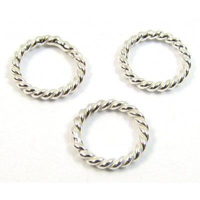 1 Sterling Silver Twisted Soldered Closed 8mm Ring