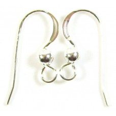 1 Pair Sterling Silver Earwires With Ball
