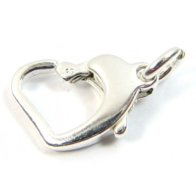 1 Sterling Silver Heart Trigger Clasp