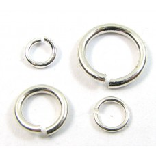 20 Heavy Weight Sterling Silver 6mm Jump Rings