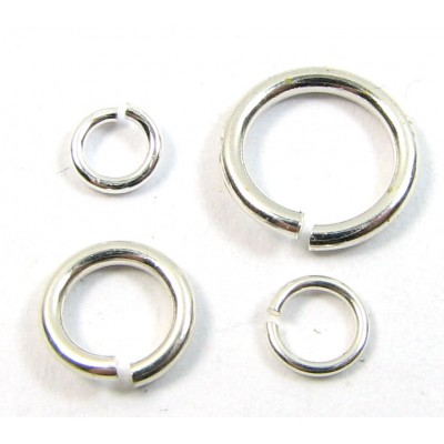 50 Light Weight Sterling Silver 4mm Jump Rings