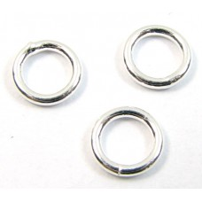 10 Sterling Silver 6mm Circle Soldered Closed Rings