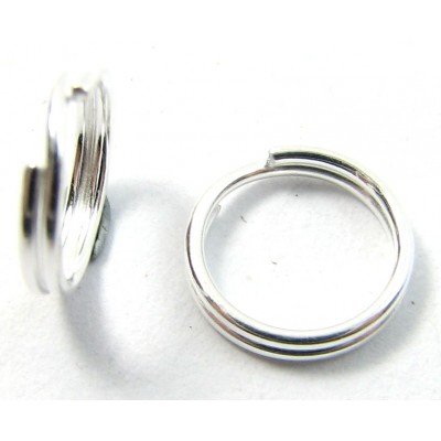 1 Sterling Silver 8mm Split Ring