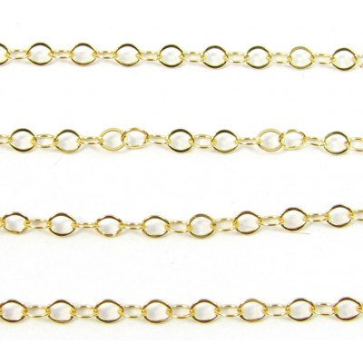 1 Centimetre 14k/20 Gold Filled Trace Chain