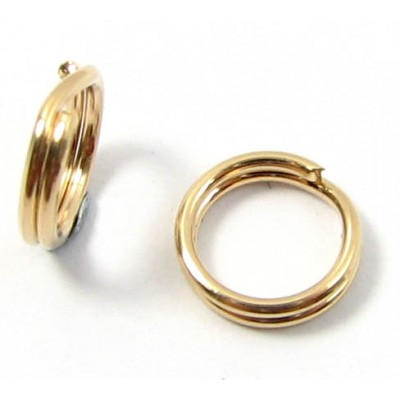 10 Gold Plated Split rings