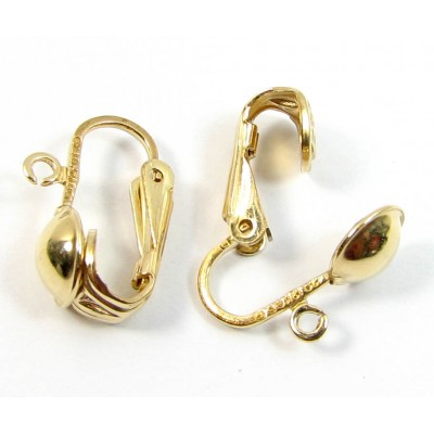 1 Pair Fold Filled Spring Earclips
