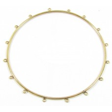 1 Gold Foiled Beadable Bangle