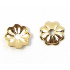 10 Gold Filled Flower 4mm beadcaps