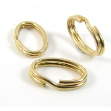 1 Gold Filled 7mm Oval Split Ring